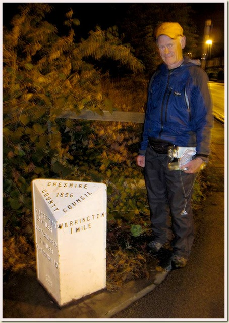An 1896 milestone on the A49 road at Stockton Heath