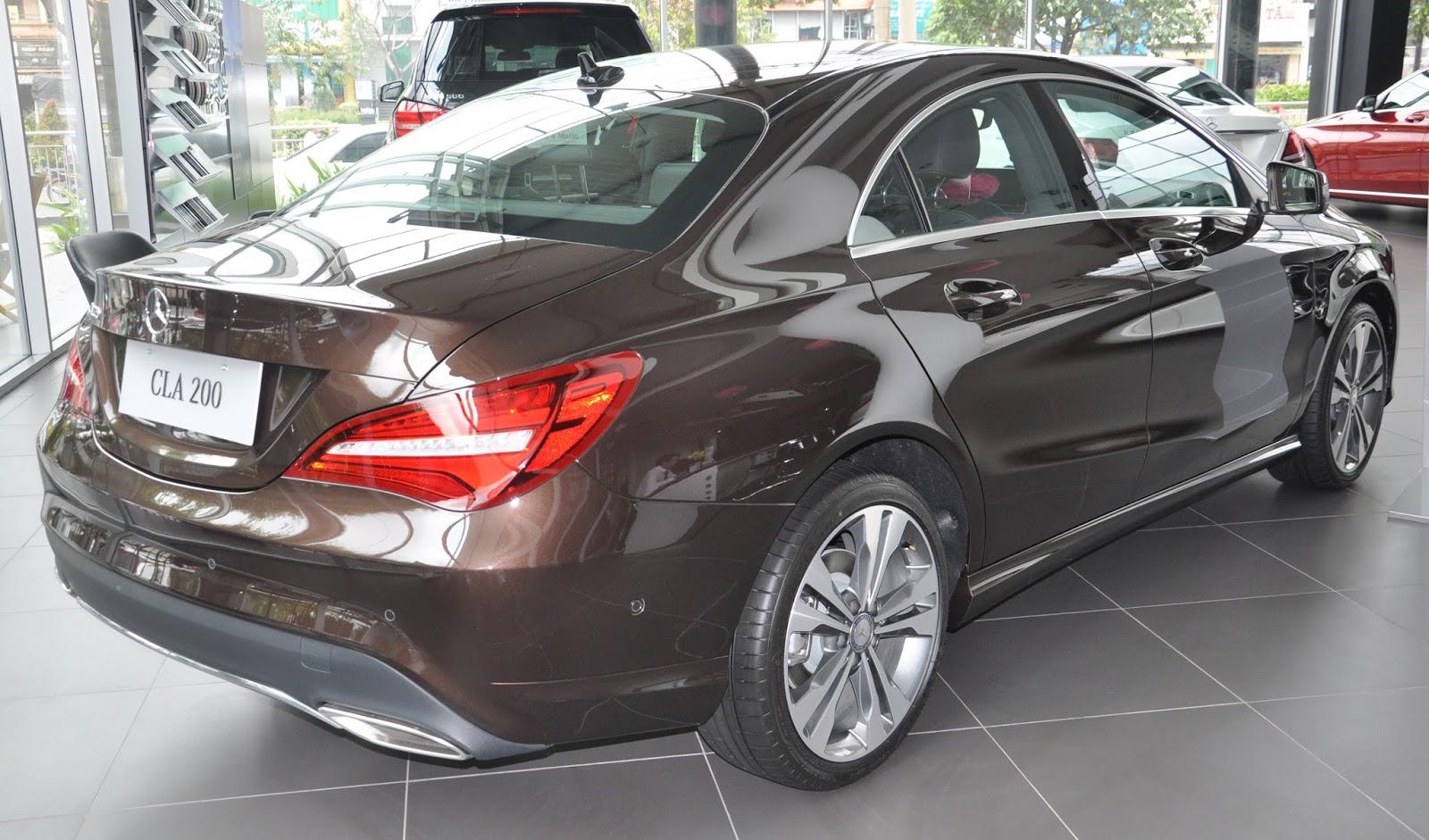 Xe Mercedes Benz CLA 200 New Model màu nâu 06