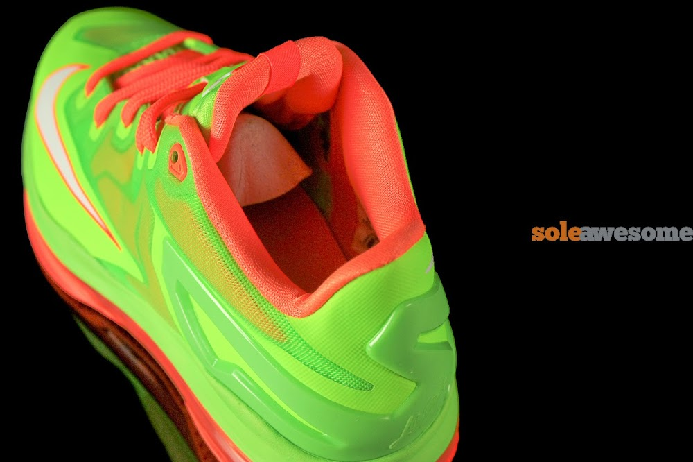 wholesale dealer 9594a 621a5 ... Nike Lebron XI Low GS in Bright Volt and Really Bright Orange ...