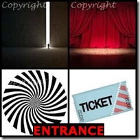 ENTRANCE- 4 Pics 1 Word Answers 3 Letters