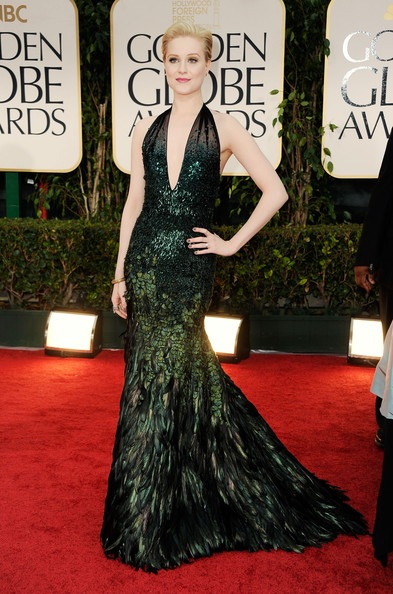 Evan Rachel Wood arrives at the 69th Annual Golden Globe Awards