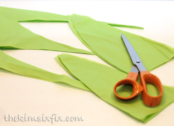 Cutting out corn leaves