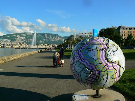 Obiective turistice Geneva: Globul de pe malul lacului Leman