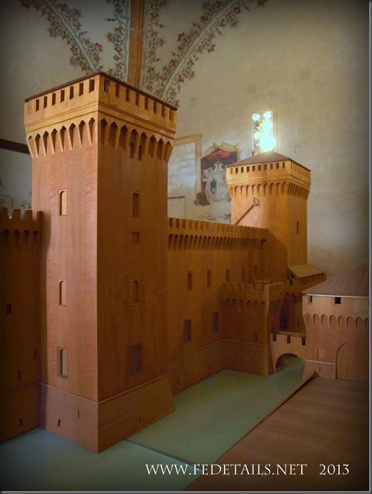 Il modellino del Castello Estense,foto3,Ferrara,EmiliaRomagna,Italia - The model of the Castle Estense, foto 3, Ferrara, Emilia Romagna, Italy - Property and Copyrights of FEdetails.net