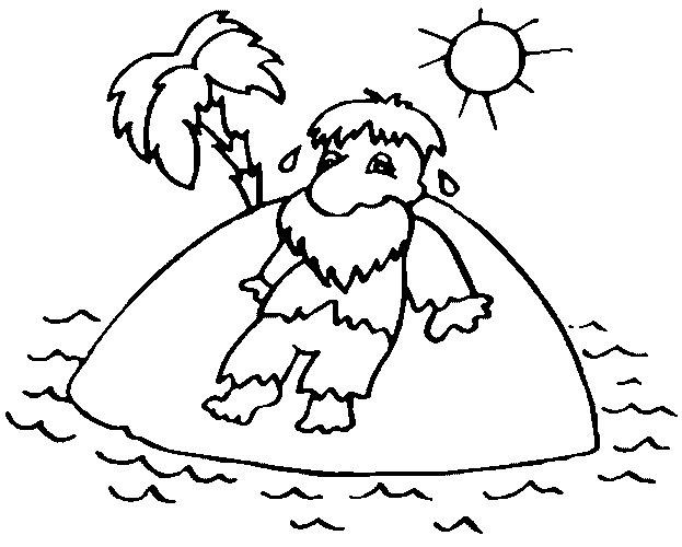 dibujos para colorear naufragos