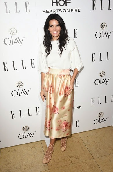 Angie Harmon attends ELLE's Annual Women in Television Celebration
