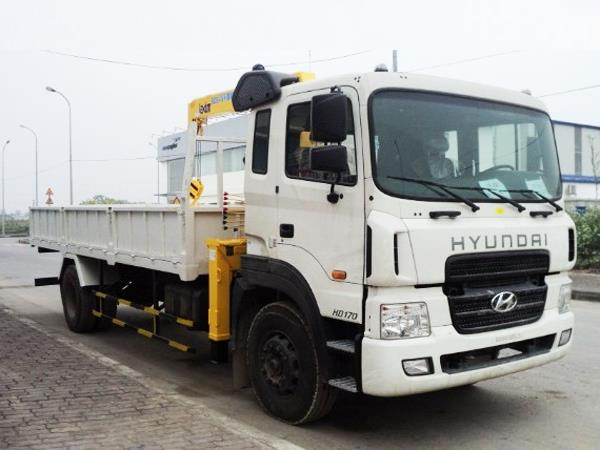 Xe Hyundai HD170 gắn cẩu SooSan