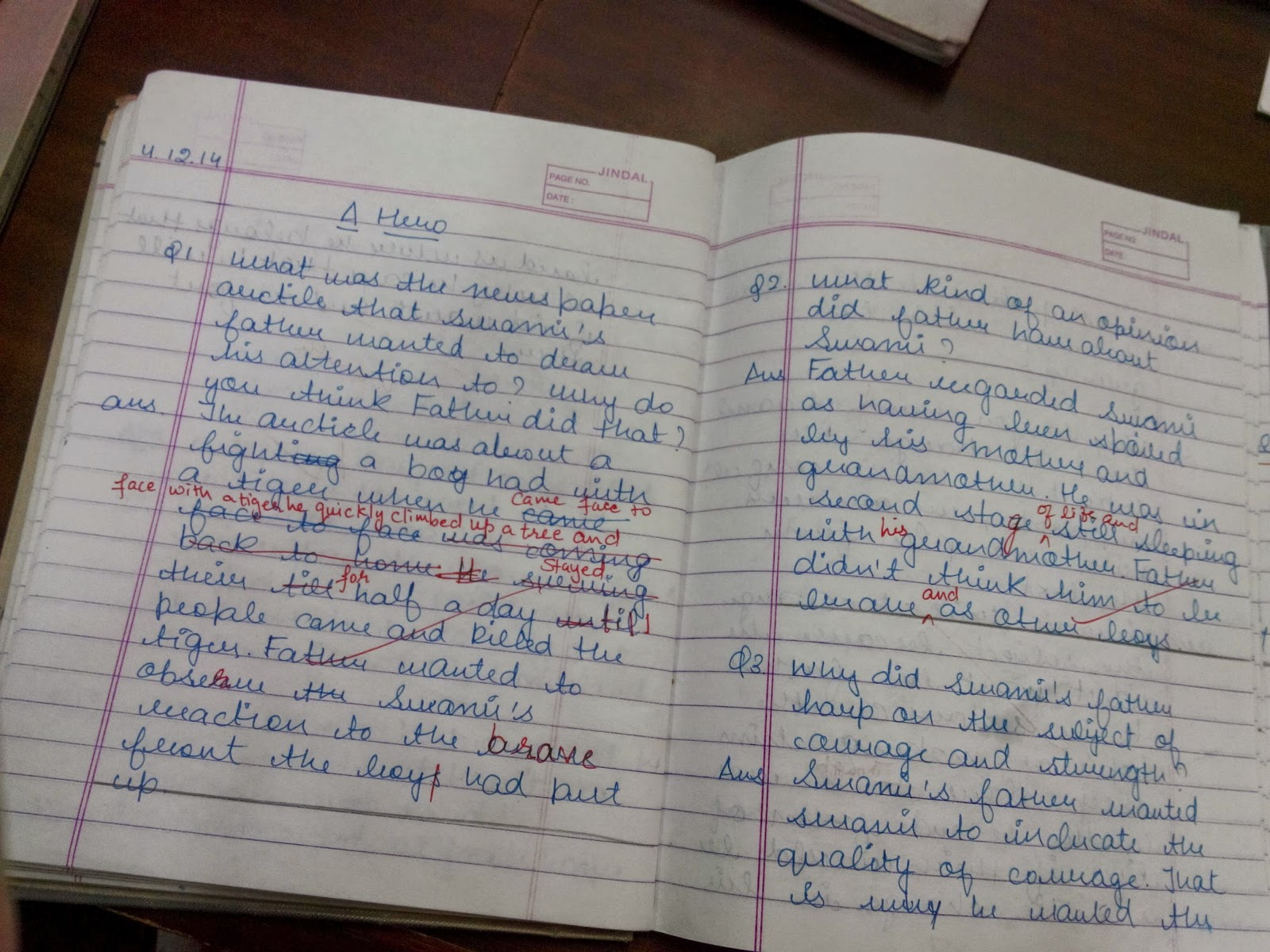 English Past Papers Class Seven Book