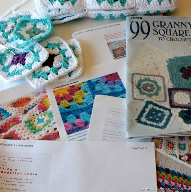 College Granny Square Blanket via homework (4)