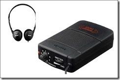 Equipamento normalmente usado por pessoas cegas para audiodescrição