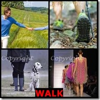 WALK- 4 Pics 1 Word Answers 3 Letters
