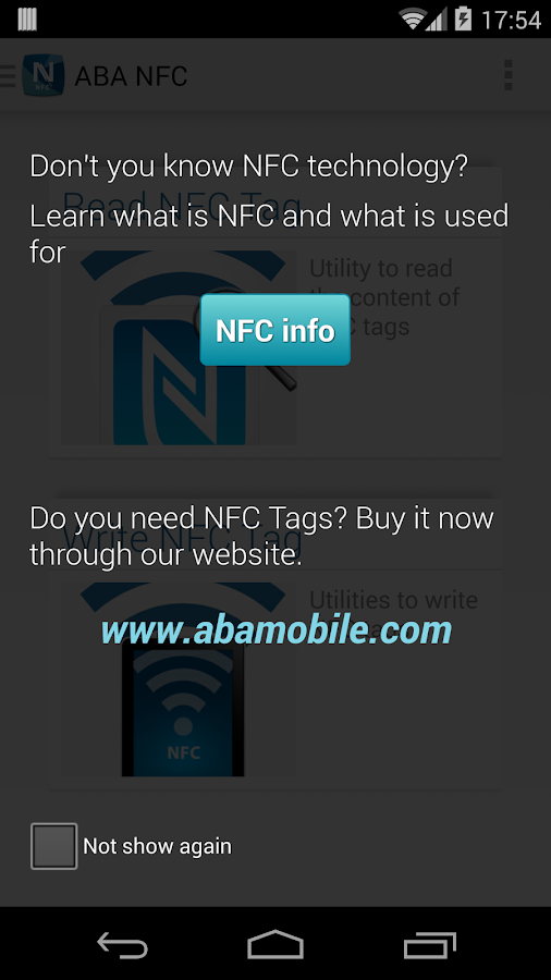 ABA NFC- screenshot