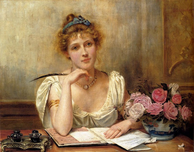 -  George Goodwin Kilburne - Escribiendo una carta.jpg