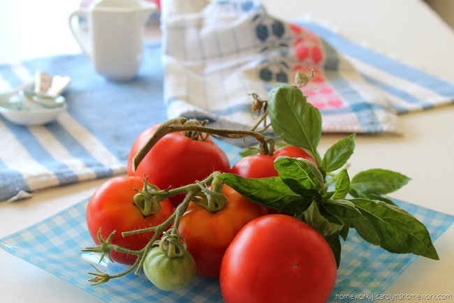 Tomato with Mozzarella and Basil Salt via homework (6)