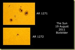 19 August 2011 Sunspot close-ups