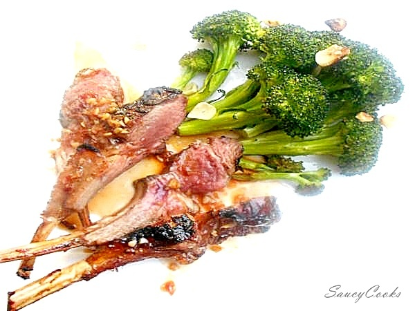Marinated and Grilled Rack of Lamb with Garlic Roasted Broccoli.jpg