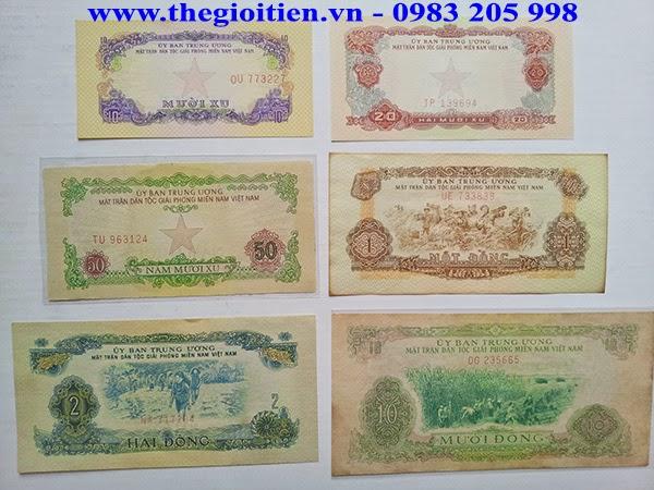 Bộ Tiền Mặt Trận Giải Phóng Miền Nam Việt Nam năm 1963 và năm 1966 là bộ  tiền được in để tiêu trong vùng mới chiến đóng được trong khu vực Miền ...