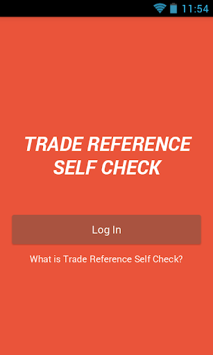 Trade Reference Self Check