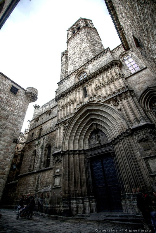 Cathedral Barcelona Gothic Quarter side entrance