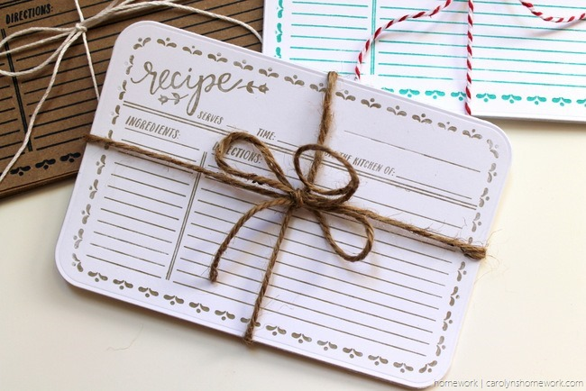Lifestyle Crafts Embossed Recipe Cards - homework (4)