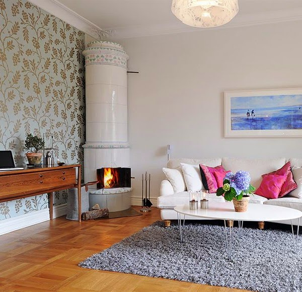 home-design-ideas-with-white-sofa-and-gray-rugs-also-scandinavian-corner-fireplace