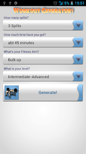 Gymme Workout Generator