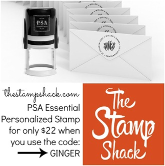 The Stamp Shack use code GINGER