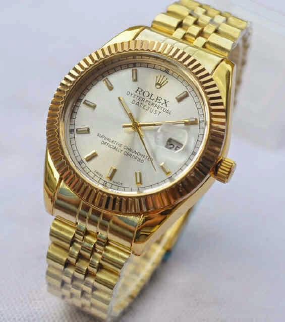 Jual jam tangan Rolex full gold white