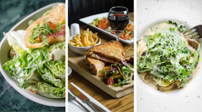 Lunch never looked better Join us from 12pm Monday to Friday Book