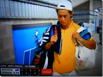 Nishikori after the match