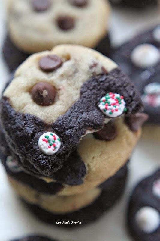Double Chocolate Peppermint Chip Swirl Cookies #fbcookieswap by @LifeMadeSweeter.jpg