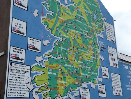 Obiective turistice Belfast: mural cu marea foamete din Irlanda