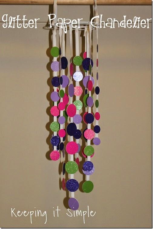 glitter paper chandelier