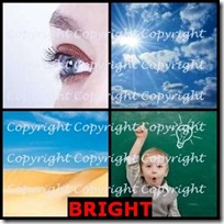 BRIGHT- 4 Pics 1 Word Answers 3 Letters