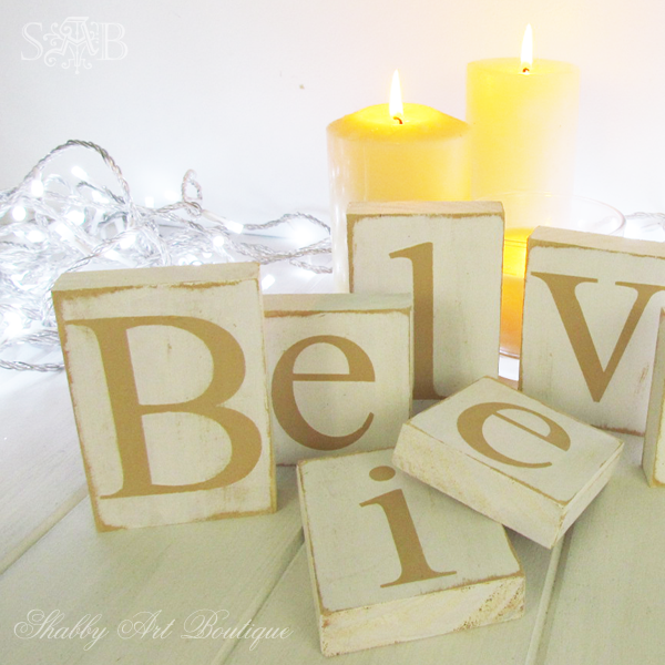 Shabby Art Boutique Believe letters 3
