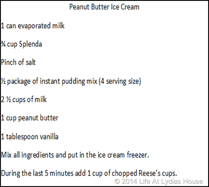 pb ice cream recipe