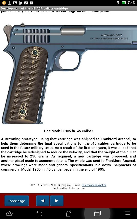 Colt pistol Model 1911- screenshot