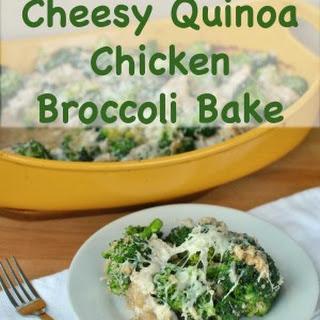 Cheesy Quinoa Chicken Broccoli Bake.