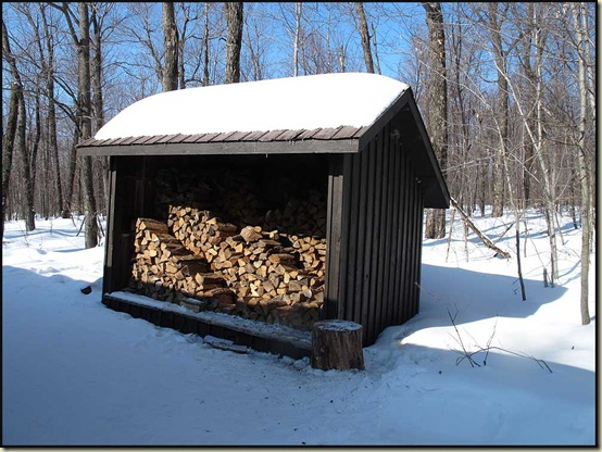 The wood shed at McKinstry
