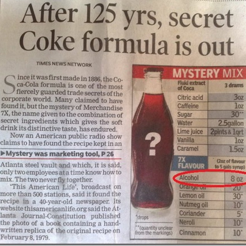 Some thing to think about when drinking Coke