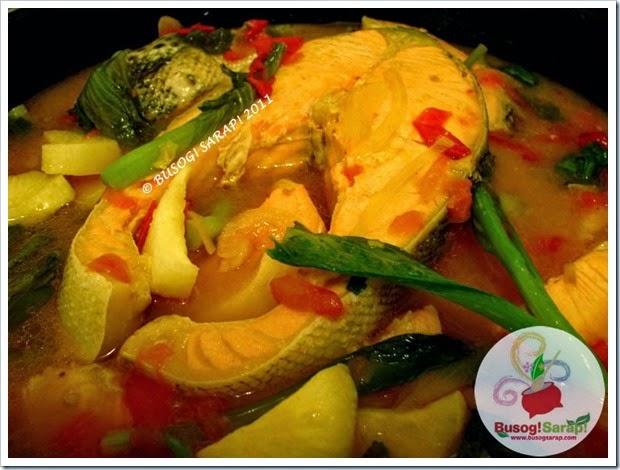 Busog Sarap Sinigang Na Salmon Sa Miso Salmon In Filipino Sour Miso Soup Kulinarya