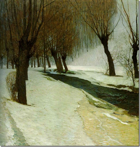 Carl Moll WinterInPreinbach 1904 PrivateCollection-Vienna