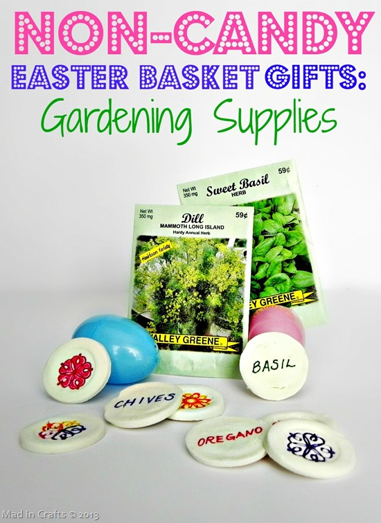 Non-Candy Easter Basket Gifts Gardening Supplies