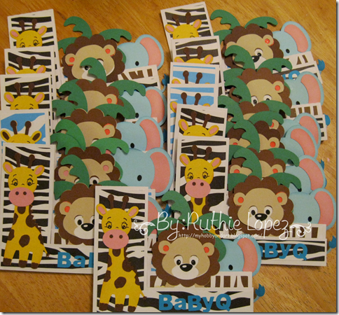 Invitation Jungle Safari themed - Baby Shower Invitation - BBQ invitation - Lion - Giraffe - Elephant - 4