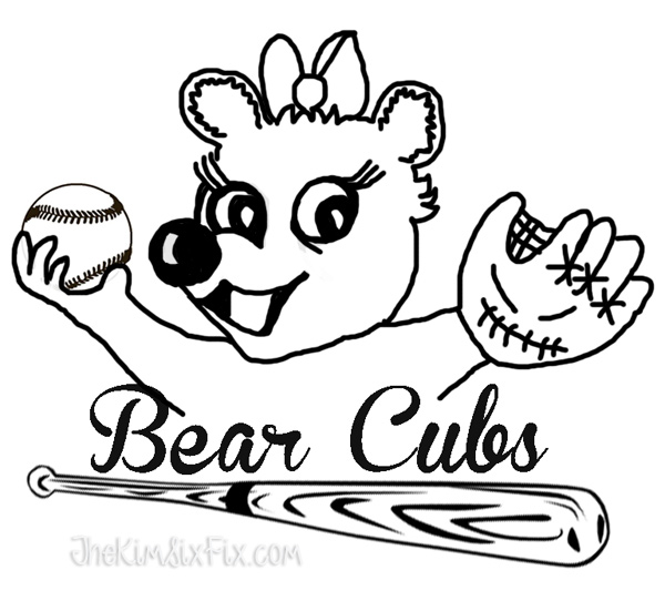 Bear cubs traced logo