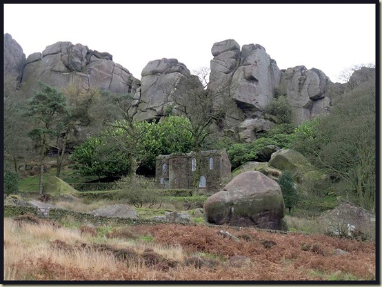 The Don Whillans Memorial Hut, tucked in under The Roaches