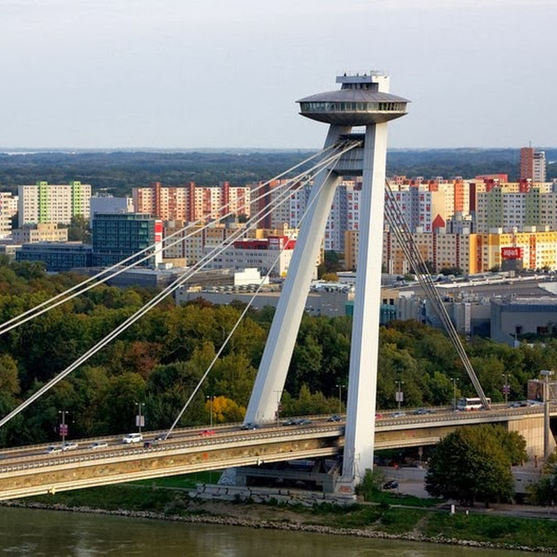 The UFO Bridge of Bratislava