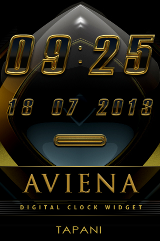 【免費生活App】Aviena digital Clock Widget-APP點子