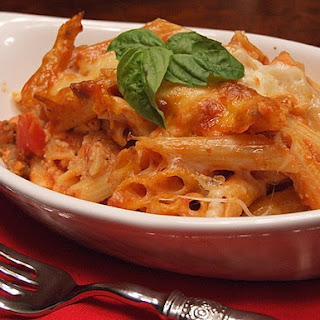 Baked Penne with Italian Sausage.