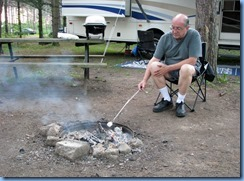 5104 Laurel Creek Conservation Area  - Bill roasting marshmallows